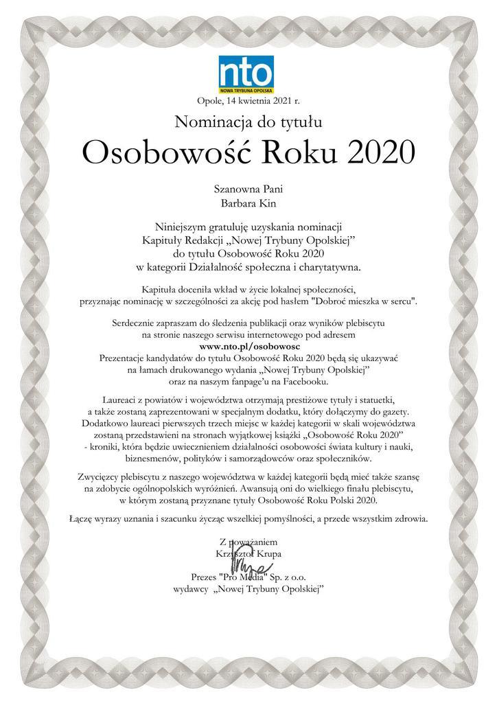 nominacja NTO